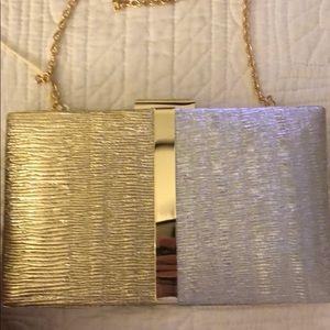 Gold/silver evening bag